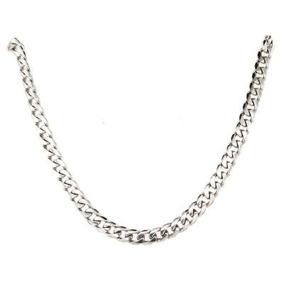 9ct White Gold Heavy Curb Chain