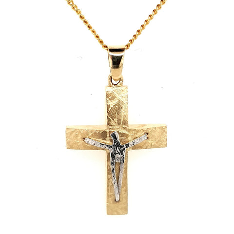 14k Greek Crucifix
