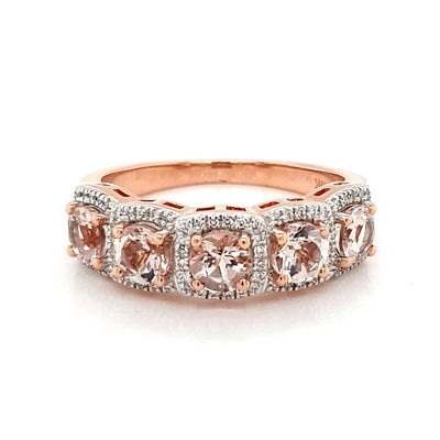 Morganite Row Ring
