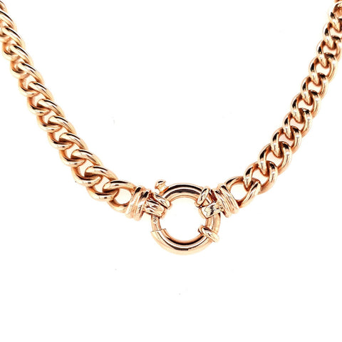 Solid 9ct Rose Gold Heavy Curb Chain