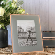 Grey and Rose Gold Glass Photo Frame