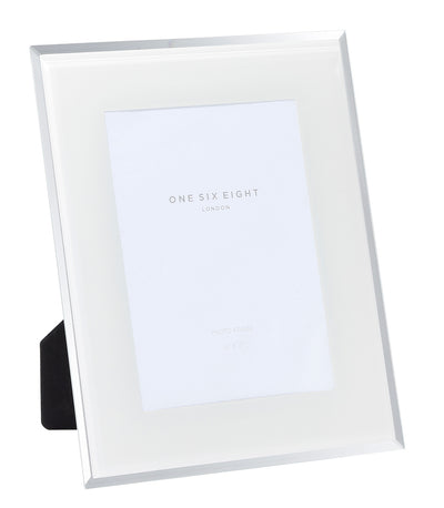 Off White Glass Photo Frame