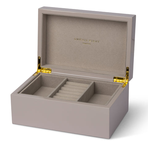 Mia Grey Lacquered Jewellery Box