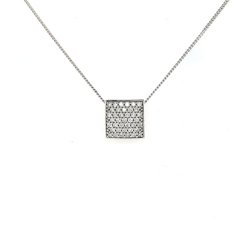 9ct Diamond Slider Pendant