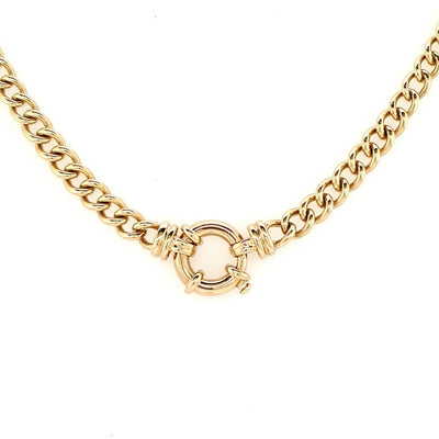 9k Yellow Gold Rounded Curb Chain