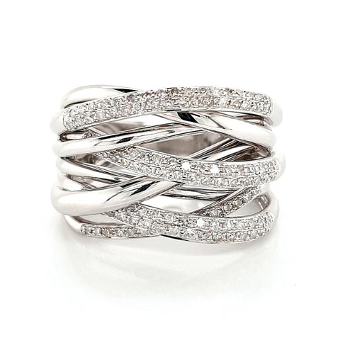 14k Multi Band Diamond Ring