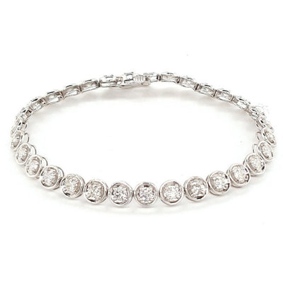 9k Round 3ct Diamond Tennis Bracelet