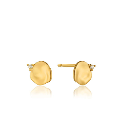 Crush Disc Stud Earrings