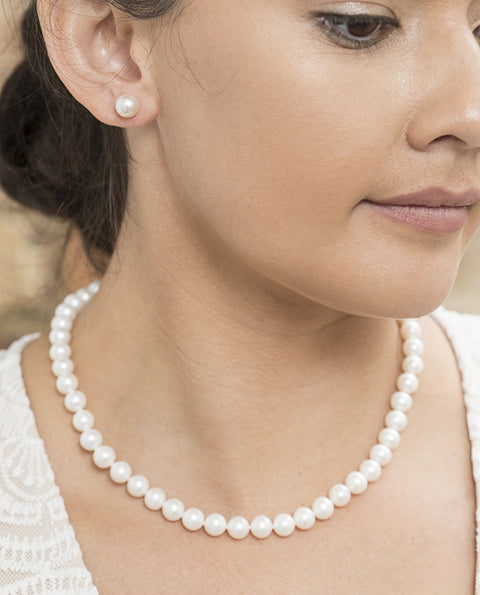 8-8.5mm Freshwater Pearl Strand 45cm