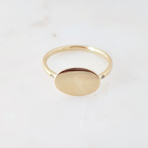 Oval ID Plate Ring