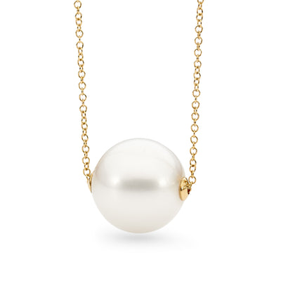 9ct Edison Pearl Slider Necklace