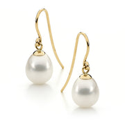 9ct Yellow Gold Freshwater Pearl Drops