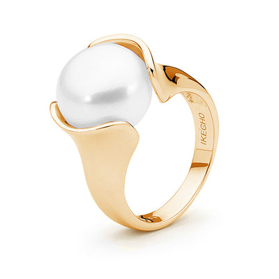 9ct Open Pearl Ring