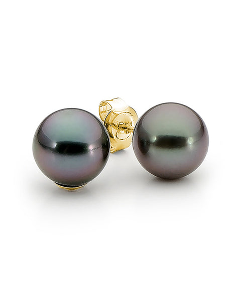 18ct 9mm Tahitian Pearl Studs