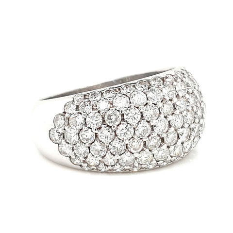 18k Pave Diamond Ring