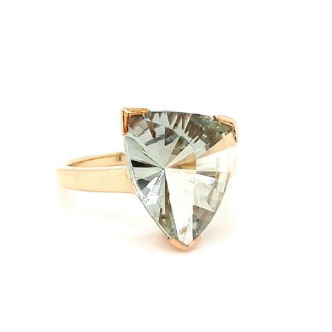Freeform Green Amethyst Ring