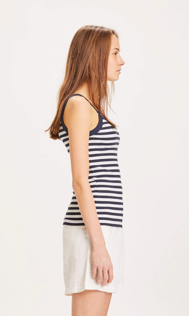 KCA 100013 Rose strap top striped Total eclipse 1001 women