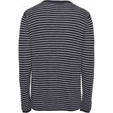 KCA Field striped O-neck tencel knit 80594 Total Eclipse 1001