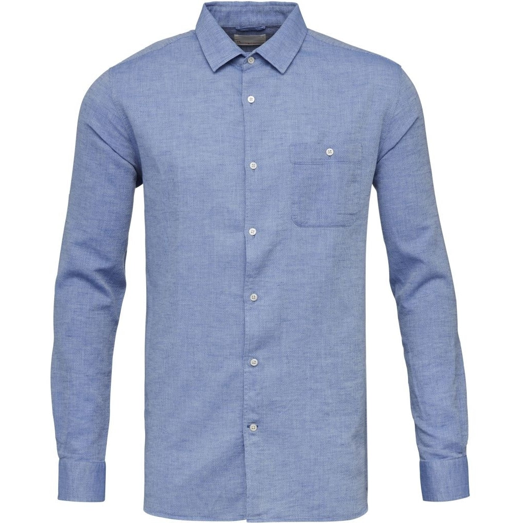 KCA 90651 Larch linen shirt strong blue 1037
