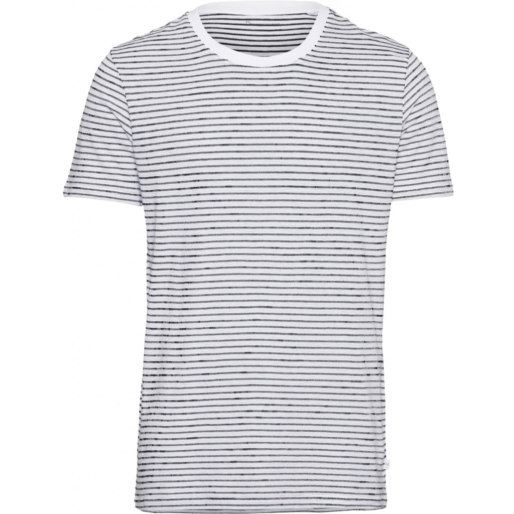KCA 10571 Alder Striped Tee 1010 Bright White