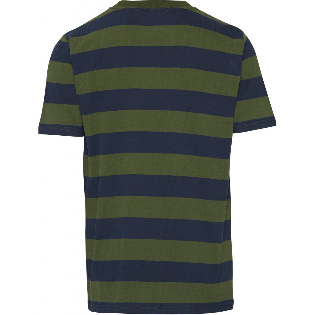 KCA Striped T-Shirt 10527 Green Forest 1278