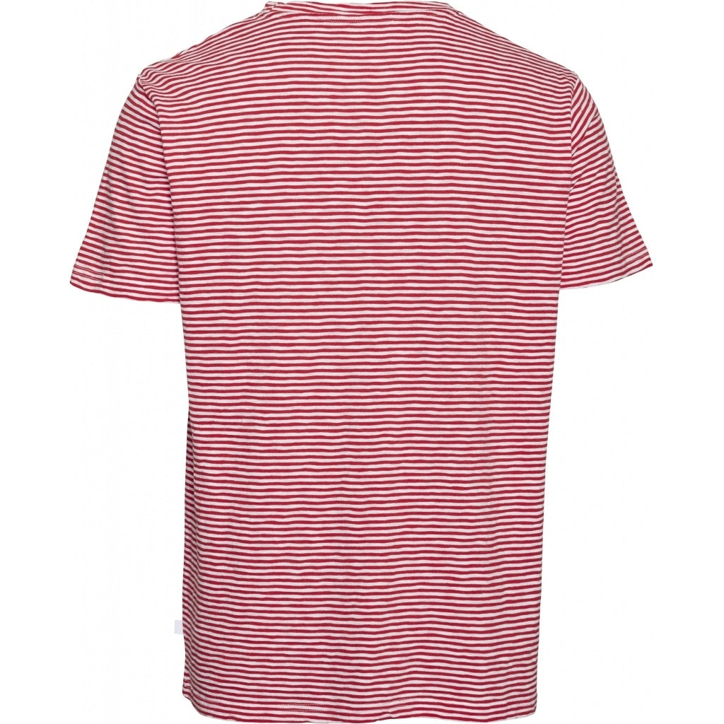 KCA 10563 Alder Narrow Striped Tee 1293 Scarlet