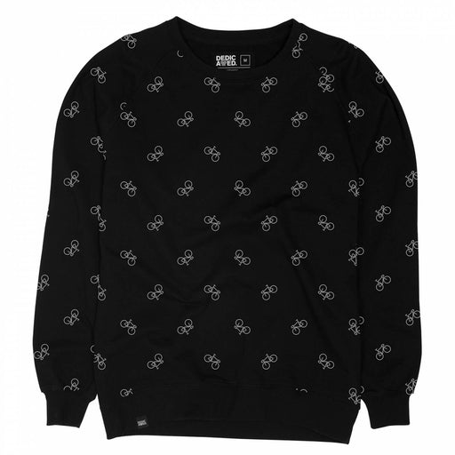 Dedicated Men Sweatshirt Black Bike Pattern