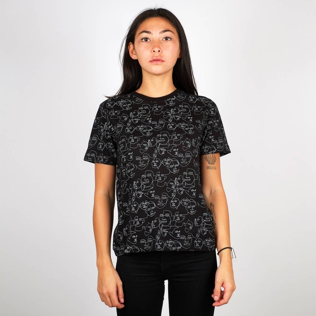 Dedicated Mysen Faces T-shirt black
