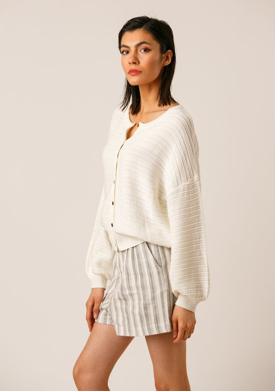 EKYOG Beryl cardigan off white