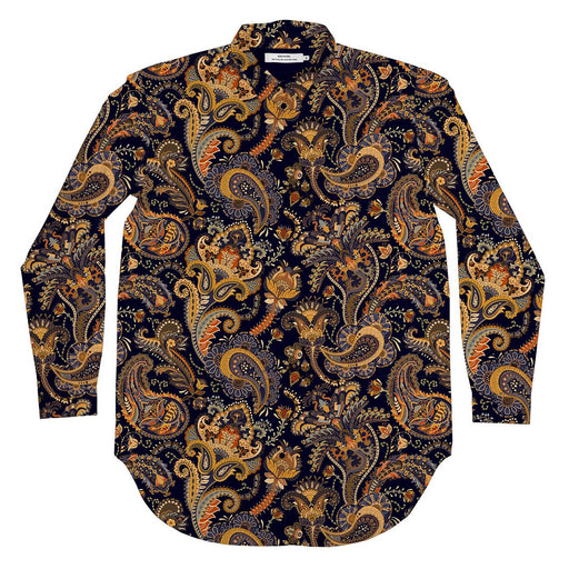 DEDICATED Fredericia shirt bold paisley navy