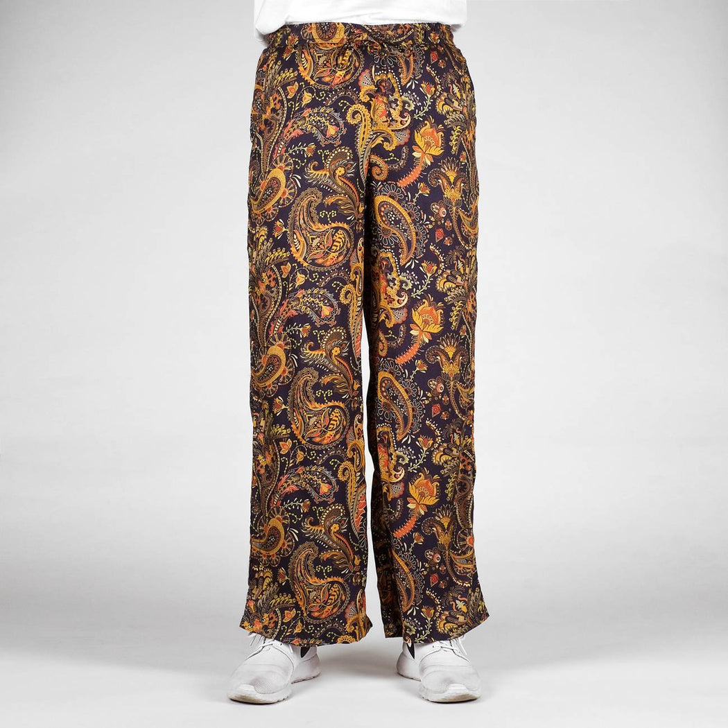 DEDICATED Moss pants bold paisley navy