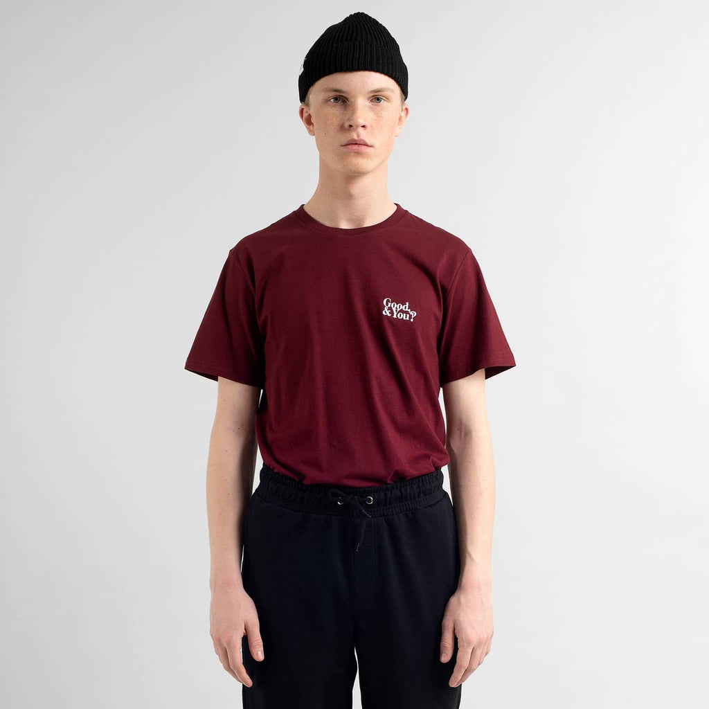 Dedicated Stockholm Good And You T-shirt burgundy