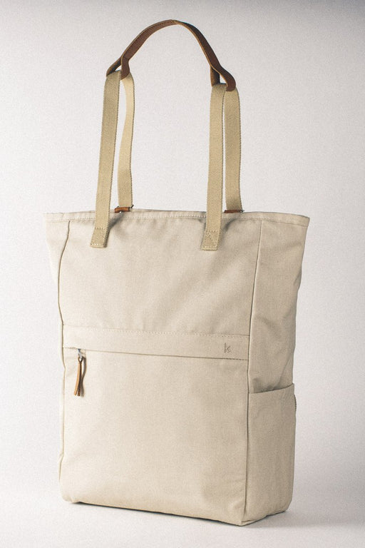 WALK WITH ME London Tote Backpack Ivory