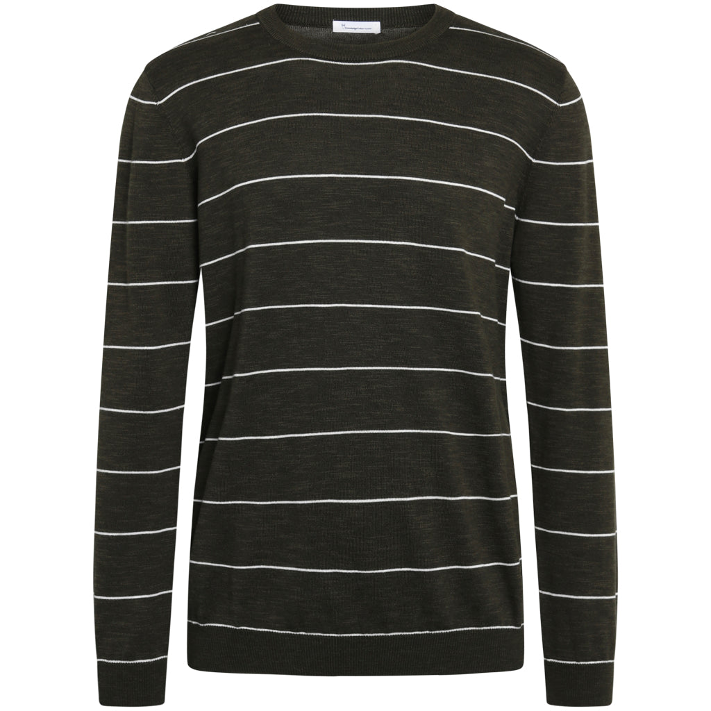 KCA 80623 Forrest o-neck striped Tencel knit 1090 Forrest night men