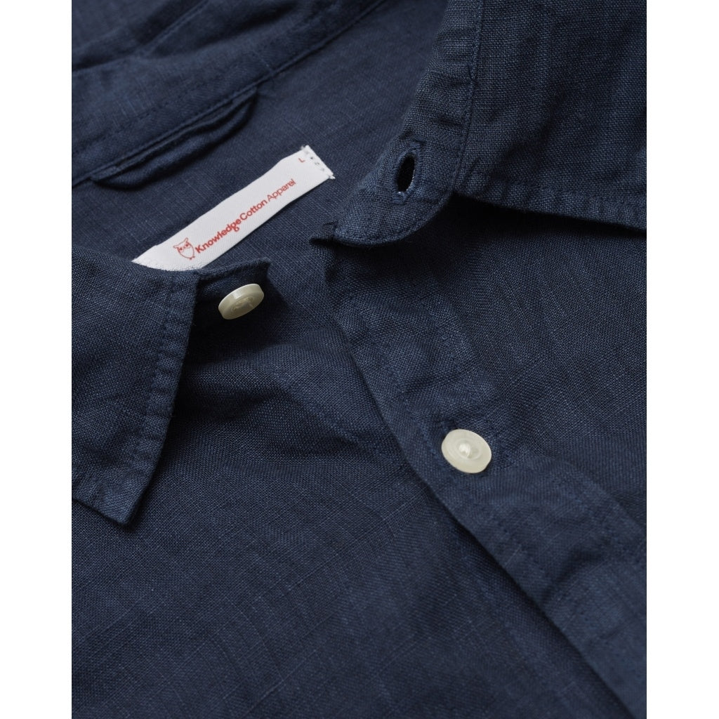 KCA 90550 Larch Linen Shirt 1001 Total Eclipse