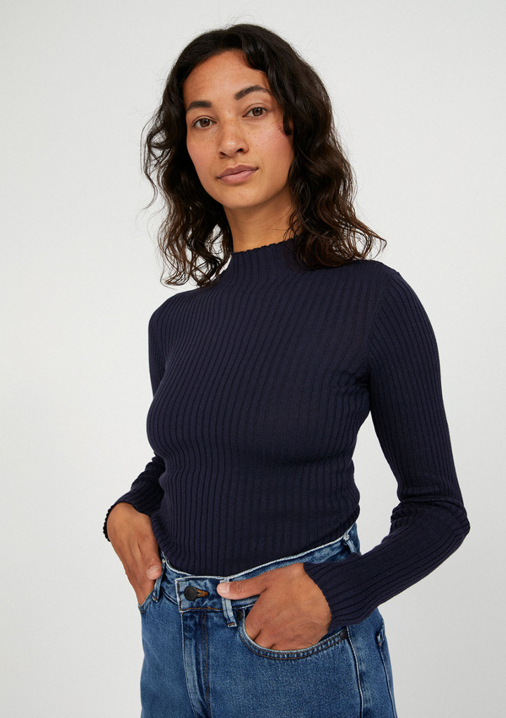 ARMEDANGELS Alaani night sky turtleneck