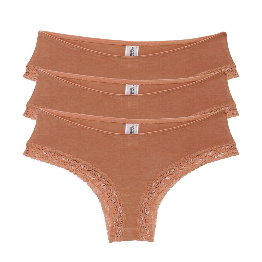 Underprotection Bea Hipsters 3 Pack Tan