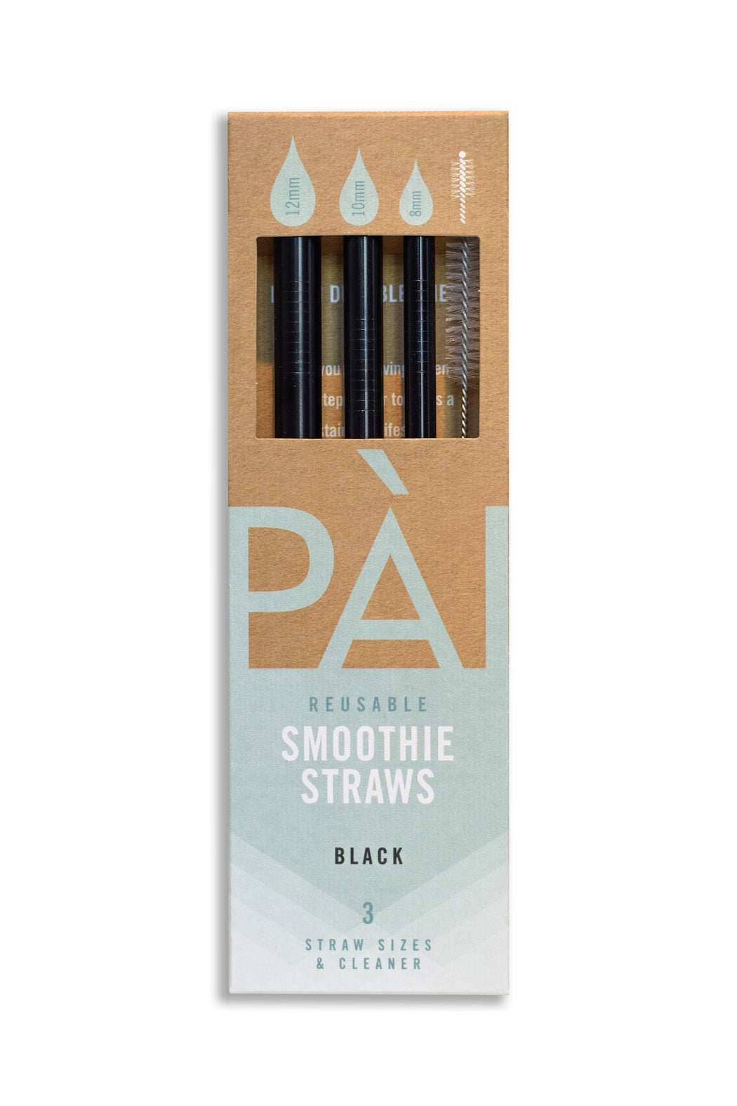 PÀI Straws Black 3-Pack
