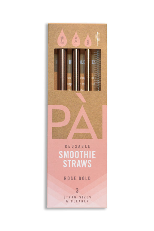 PÀI Straws Rose-Gold 3-Pack