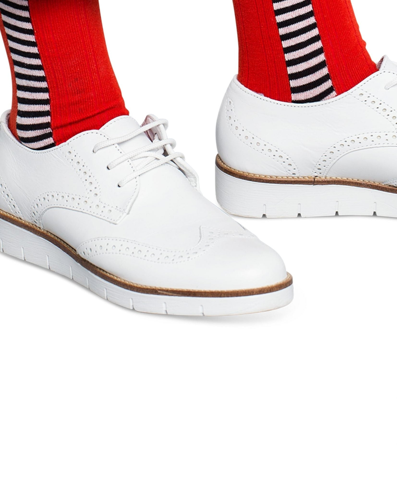 Qnoop Side Stripe Red women