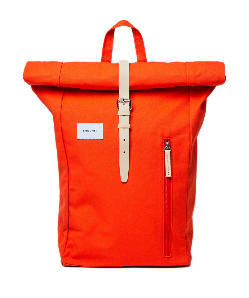 SANDQVIST Dante Poppy Red Natural Backpack
