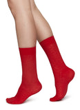 Swedish Stockings Emma Leopard Socks Red