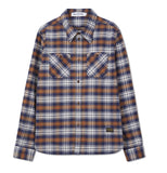 Kings of Indigo Juntoku Brushed Brown check