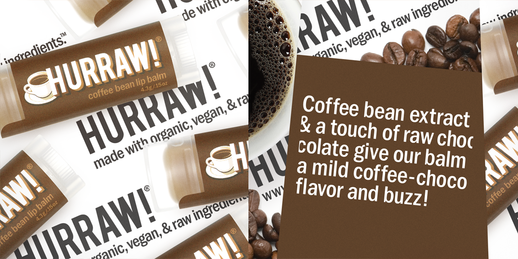 Hurraw lip balm Coffee Bean
