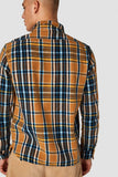Kings of Indigo Juntoku flannel Check camel