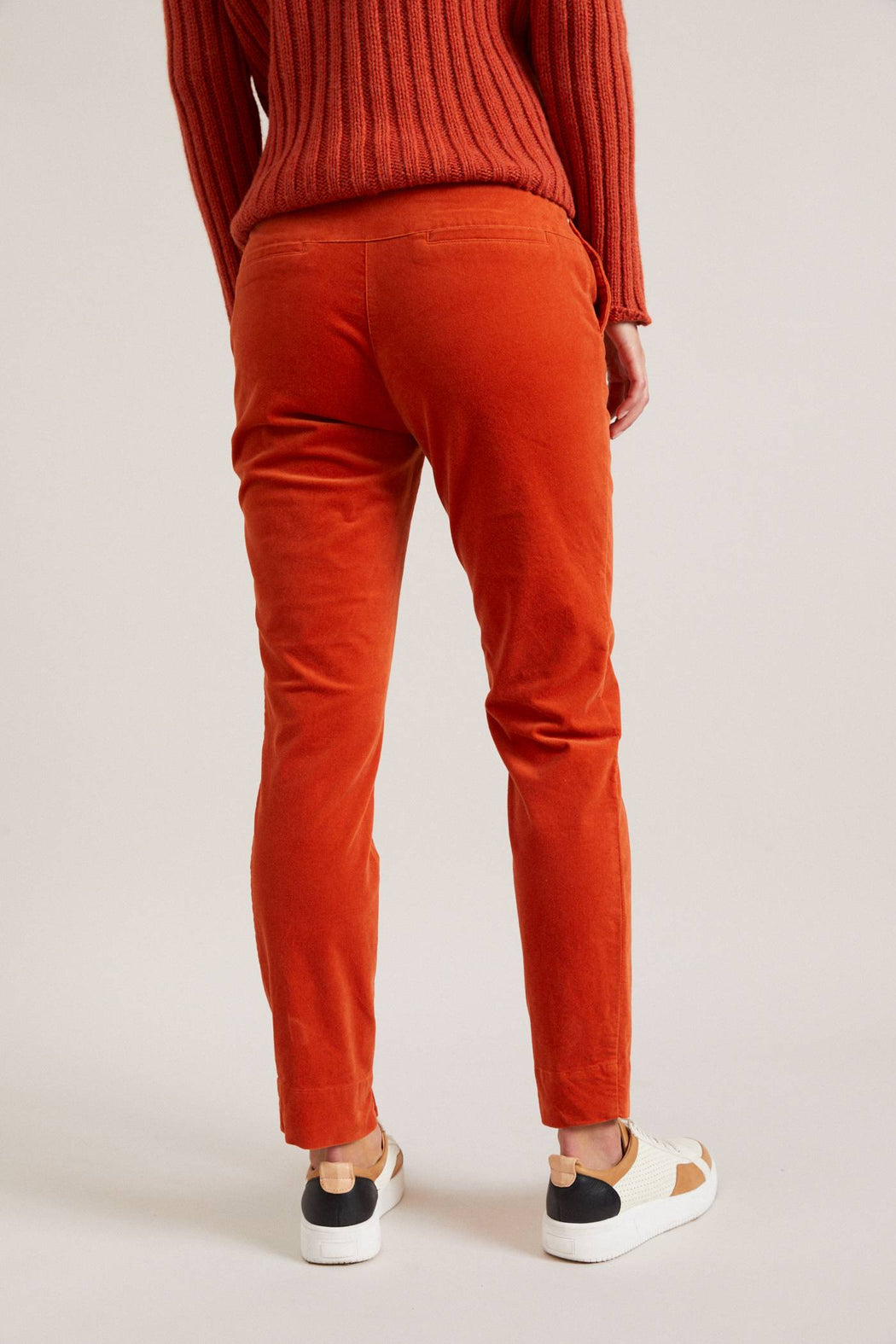 LANIUS Velvet trousers copper