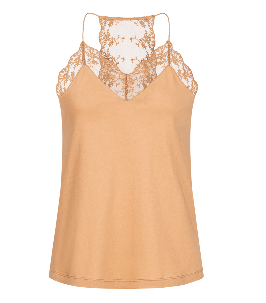 LANIUS Lace Top cashew 12256