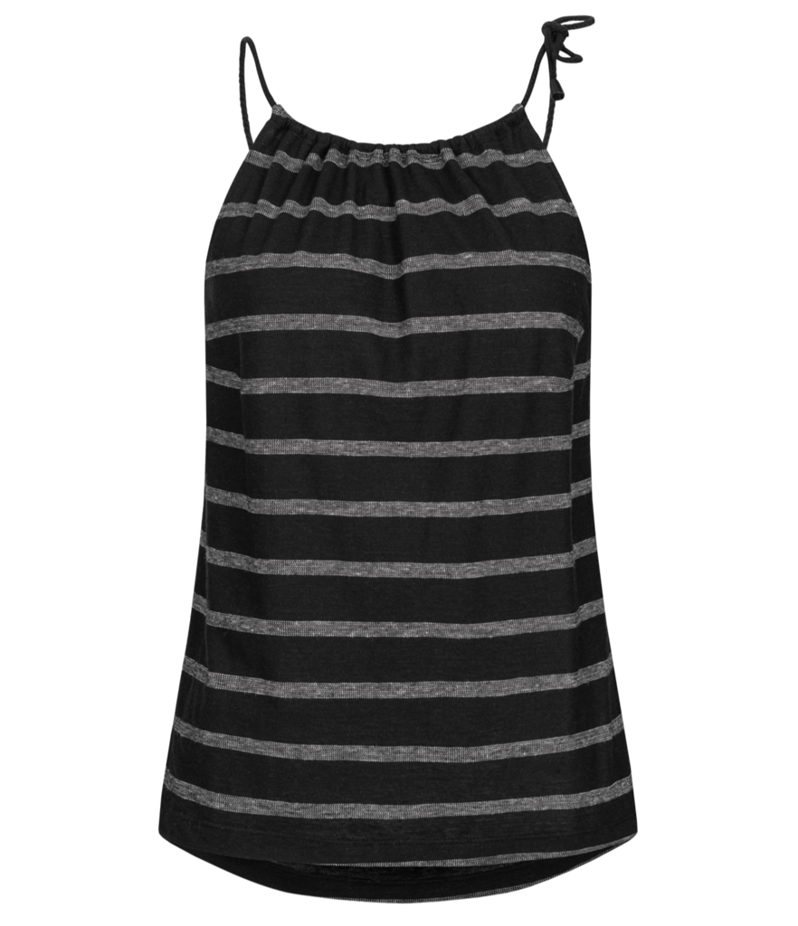 LANIUS Striped top 12775 black off white