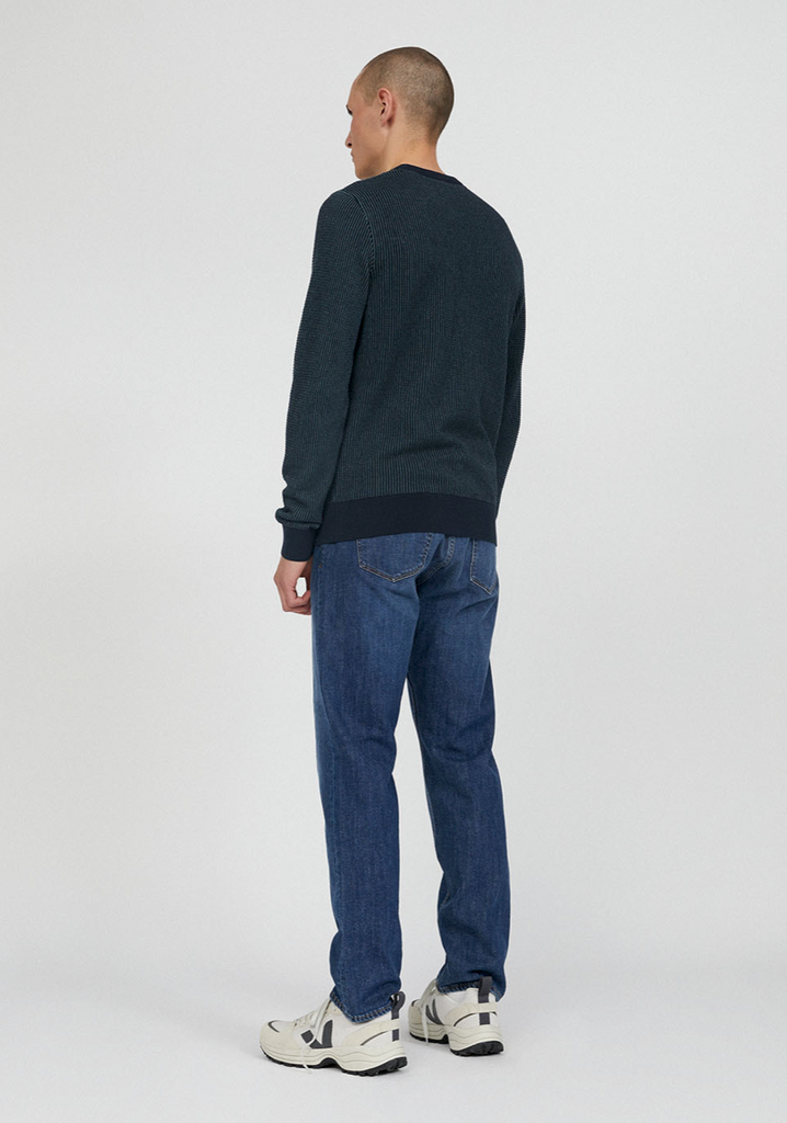 ARMEDANGELS Laavo jumper depth navy sea green