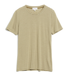 ARMEDANGELS Lidaa ring stripes top golden khaki pistachio